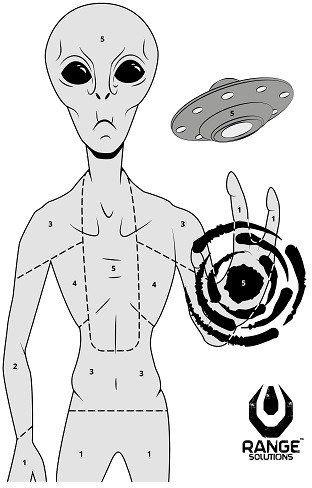 Cvičný terč Alien, 70 x 50 cm