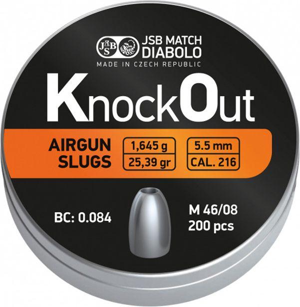 Naboj 5,5mm JSB Slug KnockOut 5,5mm 200ks