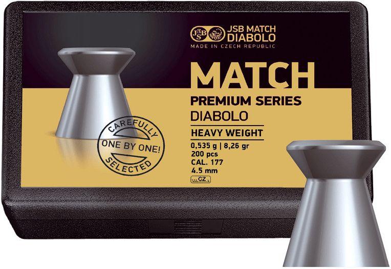 Naboj 4,5mm vzduchovka, JSB Match Premium Series Heavy 200ks