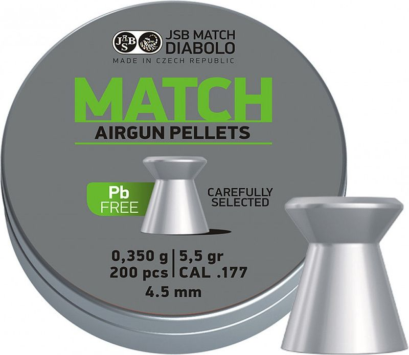 Naboj 4,5mm vzduchovka, JSB Match Lead Free 200ks