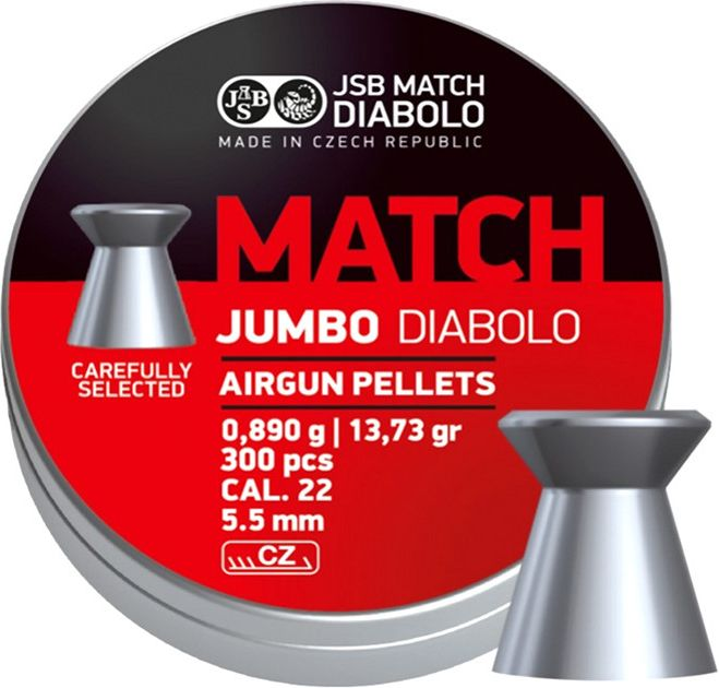 Naboj 5,5mm vzduchovka, JSB Match Jumbo 300ks