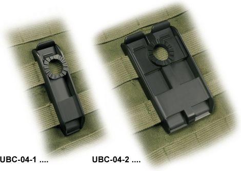 ESP Otočný dvojitý klip pre MOLLE, čierny, UBC-04/2