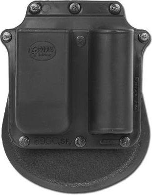Plastové púzdro Fobus pre zásobník, 9mm - Glock a svetlo, 6900 SF