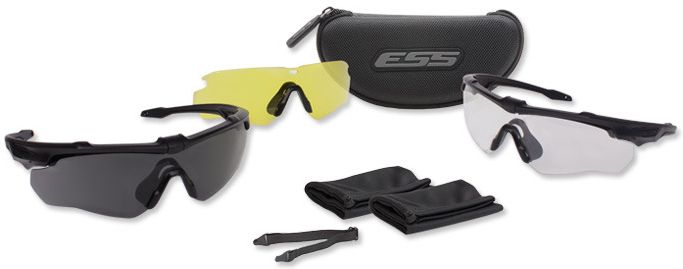 ESS Ochranné okuliare Crossblade 3LS - číre, žlté a dymové sklo, (EE9032-07)