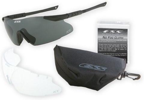 ESS Ochranné okuliare ICE 2 International - číre, dymové sklo, (740-0015)