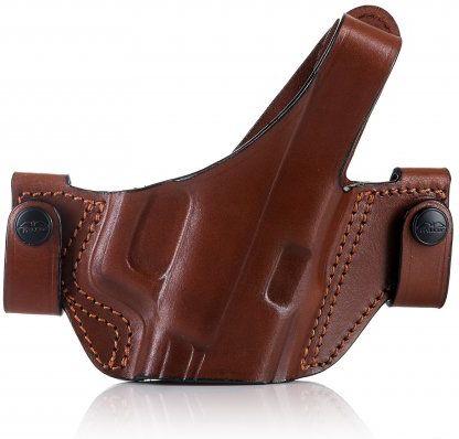 FALCO Opaskové puzdro kožené OWB typ C204 KESTREL pre Glock 19, pravák, hnedé