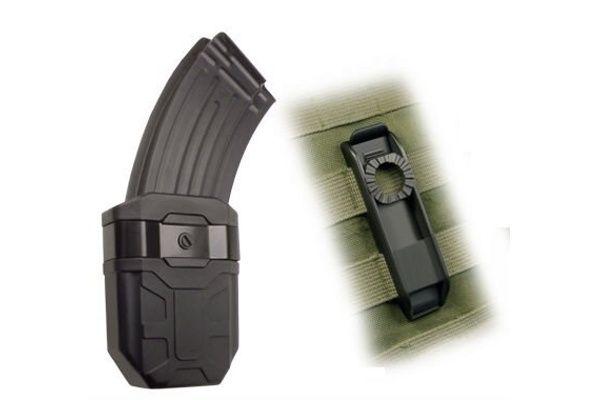ESP Rotačné plastové puzdro pre zásobník AK-47, MH-44-AK, čierne