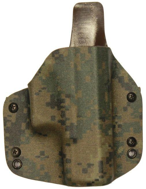 FALCO Opaskové puzdro kydexové typ 6301 s prevlečkami Glock19 - forest digital