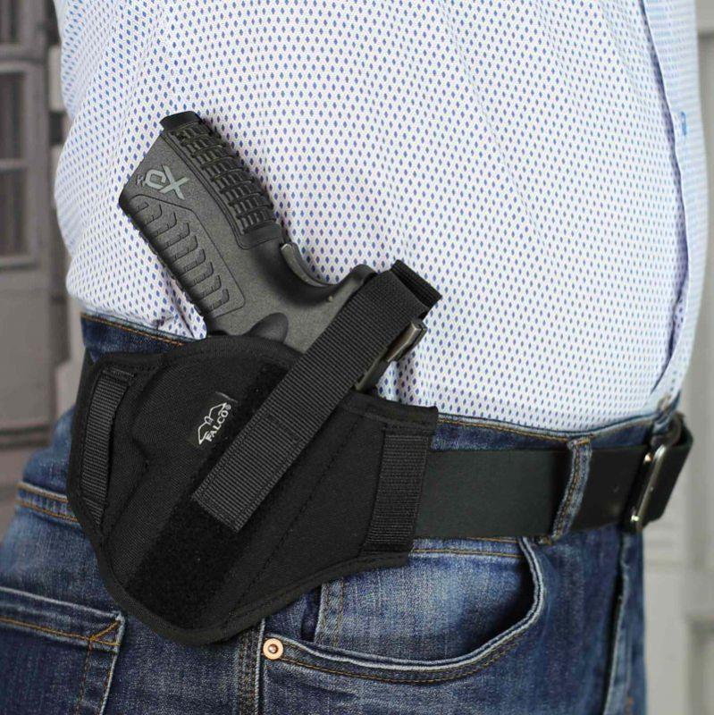 FALCO Opaskové puzdro nylonové OWB typ C501 THOMAS pre Glock 19, pravák, čierne