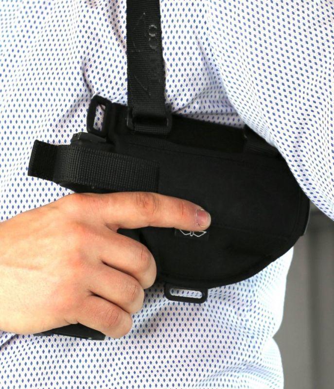 FALCO Podpažné puzdro nylonové typ D702 LUCAS Walther P99, pravák, čierne