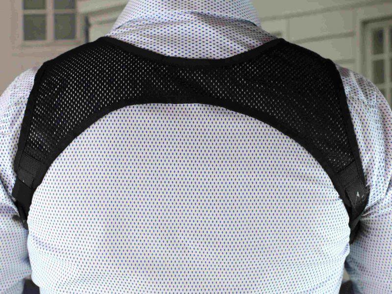 FALCO Nylonový krížový podpažný záves D773, čierny