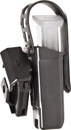 ESP Rotacne plast. puzdro pre dvojrady zasobnik 9mm Luger s poistnou paskou MH-04-S