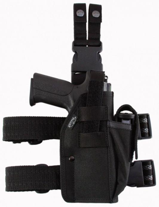 FALCO Taktické stehenné puzdro s držiakom na zásobník typ 562 Glock 17
