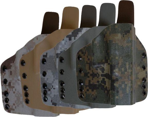 FALCO Opaskové puzdro kydexové typ 6301 s prevlečkami Glock17 - forest digital
