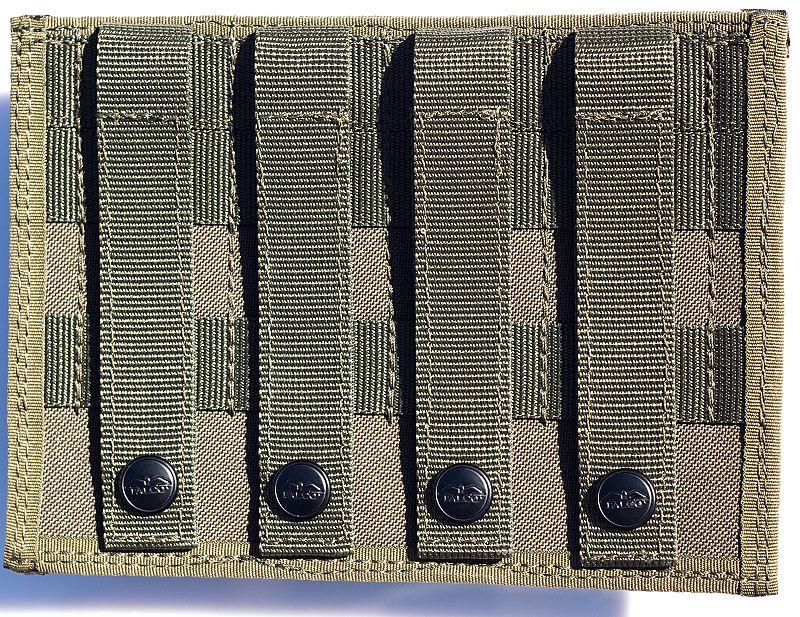 FALCO Púzdro na zásobník SA58 s vnútornými svorkami, 2 vedľa seba, MOLLE - zelené (51032/2)