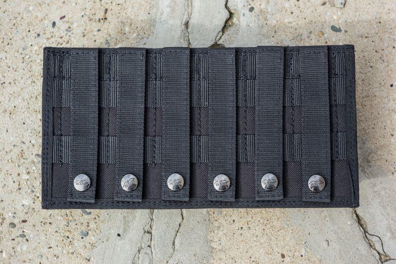 FALCO Púzdro na zásobník SA58 s vnútornými svorkami, 3 vedľa seba, MOLLE - čierne, (51032/3)