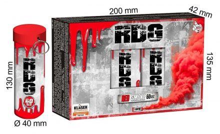 KLASEK Dymovnica RDG60 s trhacou poistkou -  červená (RDG60C (SP9020R))