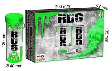 KLASEK Dymovnica RDG60 s trhacou poistkou -  zelená (RDG60ZE (SP9020G))