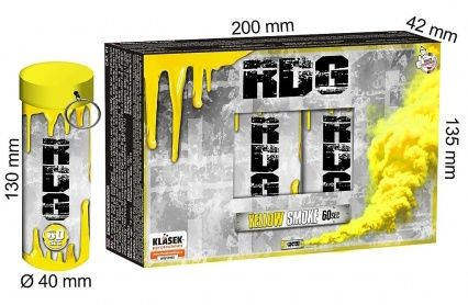KLASEK Dymovnica RDG60 s trhacou poistkou -  žltá (RDG60ZL (SP9020Y))