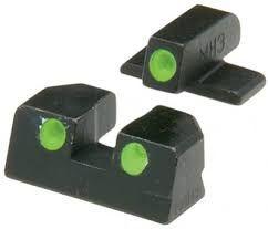MEPROLIGHT Mieridla Self-Illuminated Night Sights pre Glock9mm/.357SIG/.45GAP/.40S&W, štandard, zelená