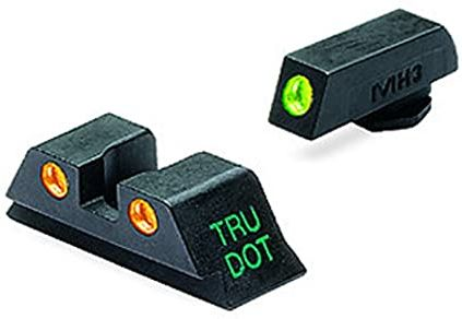 MEPROLIGHT Mieridla Self-Illuminated Night Sights pre Glock9mm/.357SIG/.45GAP/.40S&W, vysoké, F/R zelená/oranžová