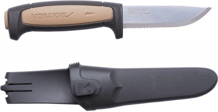 MORAKNIV Nôž s pevnou čepeľou ROPE - Stainless Steel - pieskový, (NZ-RPE-SS-11)