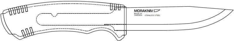 MORAKNIV Nôž s pevnou čepeľou Bushcraft Black SRT - Stainless Steel - čierny, (NZ-BBS-SS-01)