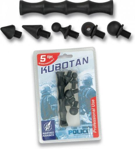 Kubotan ABS 5ks nastavcov, čierny