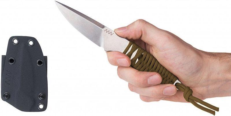 ANVKnives Nôž s pevnou čepeľou P100 N690 SW - coyote (ANVP100-005)