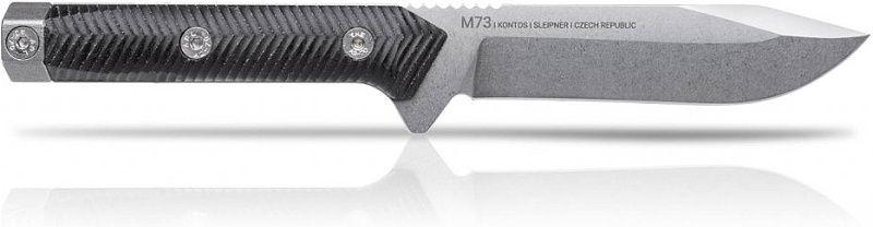 ANVKnives Nôž s pevnou čepeľou M73 Sleipner/Micarta SW - čierny (ANVM73-003)