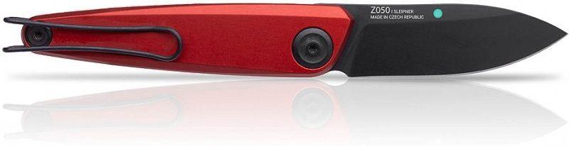 ANVKnives Zatvárací nôž Z050 Sleipner/Dural DLC - červený (ANVZ050-005)
