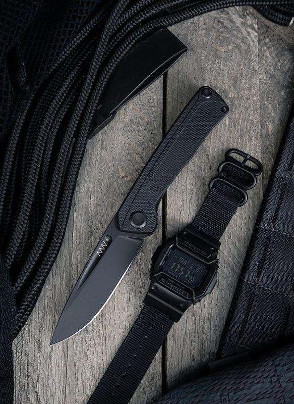 ANVKnives Zatvárací nôž Z200 Sleipner/G10 DLC - čierny (ANVZ200-018)