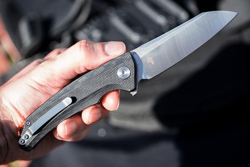 BESTECH Zatvárací nôž Texel Linerlock - čierny (BTKG21A1)
